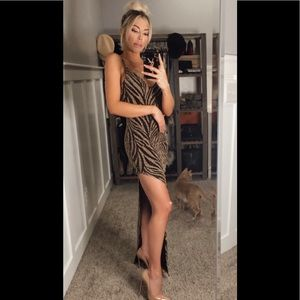 Sparkly tiger print gown